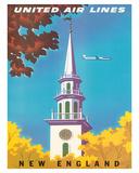 United Air Lines: New England, c.1950s Giclée-Druck von Joseph Binder