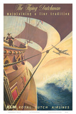 KLM Royal Dutch Airlines: The Flying Dutchman, c.1956 Posters av Leendert Spierenburg