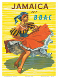 British Overseas Airways Corporation: Jamaica - Jet BOAC, c.1950s Prints by Hayes