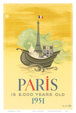 Paris is 2000 Years Old, c.1951 Prints by Roger Chapelain Midy