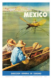 Dirección General de Turismo: Lake Chapala, Mexico c.1948 Posters by Salvador Pruneda
