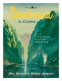 Pan American: Scandinavia by Clipper, c.1951 - Giclee Baskı