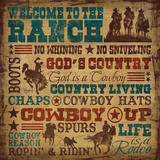 Welcome to the Ranch Affiches par Shawnda Eva