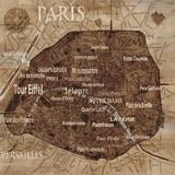 Karta över Paris Konst av Luke Wilson