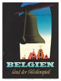 Belgien: Land der Glockenspiele - Land of Glockenspiel c.1950 Prints