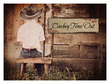 Cowboy Time Out Láminas por Shawnda Eva