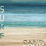 Surf and Sand Prints by Luke Wilson