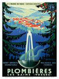 Plombières-les-Bains (Vosges), France c.1939 Posters by Adrien Sénéchal