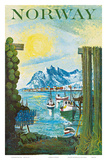 Norway: Fishing Village, c.1940s Prints by Lars Thorsen