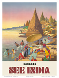 Banaras: See India, c.1940s Posters