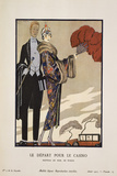 Le Depart Pour Le Casino Prints by Georges Barbier