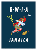 British West Indies Airways: BWIA Jamaica, c.1961 Posters