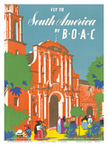British Overseas Airways Corporation: Fly to South America by BOAC, c.1950s Posters by E.O. Seymour