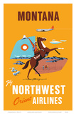 Fly Northwest Orient Airlines: Montana, c.1950s Posters
