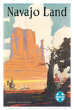 Santa Fe Railroad: Navajo Land, c.1954 Poster