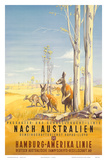 Hamburg America Line: Australian Outback, c.1935 Print by Ottomar Anton