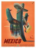 Mexico: Mariachi Cactus, c.1945 Prints