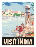 Lake Udaipur: Visit India, c.1957 Giclee Print