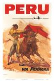Panagra Pan American-Grace Airways: Peru, c.1946 Art par Carlos Ruano-Llopis