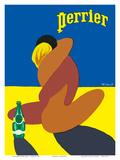 Perrier: Nude Lovers, c.1980 Poster af Bernard Villemot