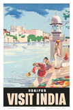 Lake Udaipur: Visit India, c.1957 Prints