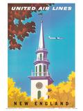 United Air Lines: New England, c.1950s Kunstdrucke von Joseph Binder