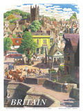 Britain Village, c.1950s Prints by S.R. Badmin