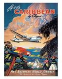 Pan American: Fly to the Caribbean by Clipper, c.1940s Giclée-Druck von M. Von Arenburg