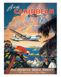 Pan American: Fly to the Caribbean by Clipper, c.1940s Giclee Print by M. Von Arenburg