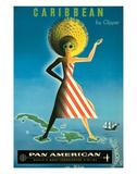Pan American: Caribbean by Clipper, c.1958 Gicléetryck av Jean Carlu