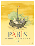 Paris is 2000 Years Old, c.1951 Posters by Roger Chapelain Midy