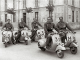 Men on Vespa Prints