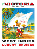 Victoria Incres Line: West Indies - Luxury Cruises, c.1971 Posters