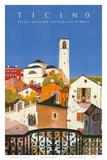 Ticino, Southern Switzerland, c.1943 Posters av Daniele Buzzi