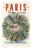 Pan American: Paris by Clipper, c.1951 Posters