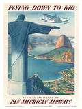 Pan American: Flying Down to Rio, c.1930s Poster di Paul George Lawler