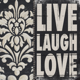 Live Laugh Love Poster by Stephanie Marrott