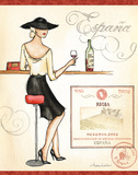 Wine Event I Poster by Andrea Laliberte