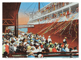 Steamer Day, Honolulu, Hawaii, c.1930s Prints