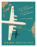 Japan Airlines: Fly to America Giclee Print