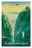 Pan American: Scandinavia by Clipper, c.1951 Plakater