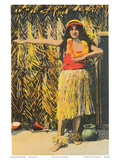 Hula Girl, Honolulu, Hawaii, c.1930s Prints
