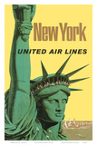 United Air Lines: New York, c.1950s Posters by Stan Galli