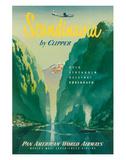 Pan American: Scandinavia by Clipper, c.1951 Giclée-Druck