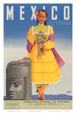 Mexico le Espera, c.1953 Affischer av German Horacio