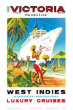 Victoria Incres Line: West Indies - Luxury Cruises, c.1971 Prints