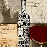 Wine Collage Art by Lisa Wolk