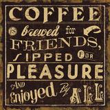 Coffee Quote II Kunstdrucke von Jess Aiken