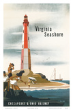 Chesapeake & Ohio Railroad: Virginia Seashore, c.1950s Prints by Bern Hill