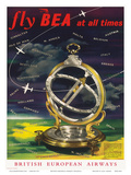 British European Airways: Fly BEA at All Times, c.1960s Posters